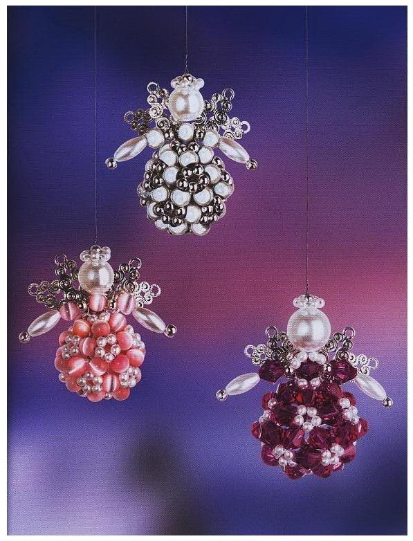 ангелочки из бисера своими руками схема