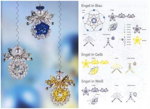 ангелы из бусин и бисера, схема плетения