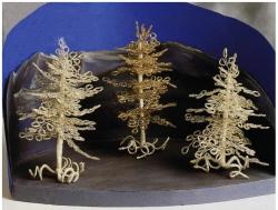 ёлки из бисера на проволоке, схема плетения
