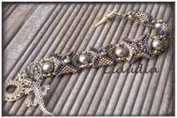 браслет из бисера, мозаика, оплетение бусины, схема