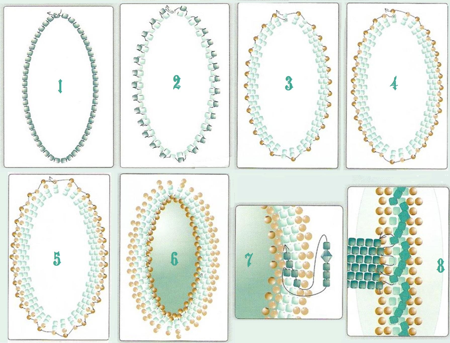 схема плетения мозаикой из бисера