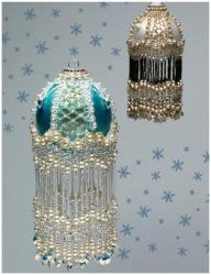 оплетение бисером елочных шаров, оплетаем новогодние шары бисером