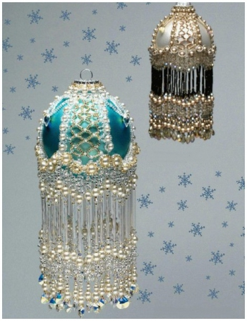 оплетение бисером елочных шаров, оплетаем новогодние шары бисером. xhxP-QiIOE4.