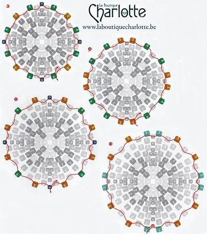 мозаичное плетение, схема кубик из бисера