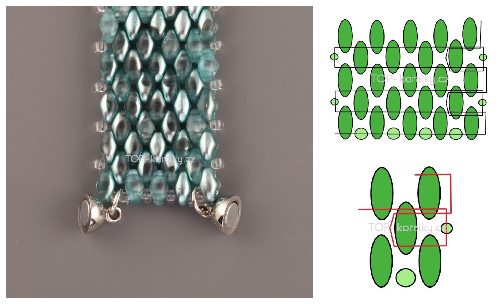 схема плетения из бисера соты