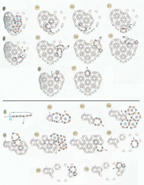 сувениры, изделия к 14 февраля, ко дню всех влюбленных, ко дню Святого Валентина, валентинки, бисер, схема