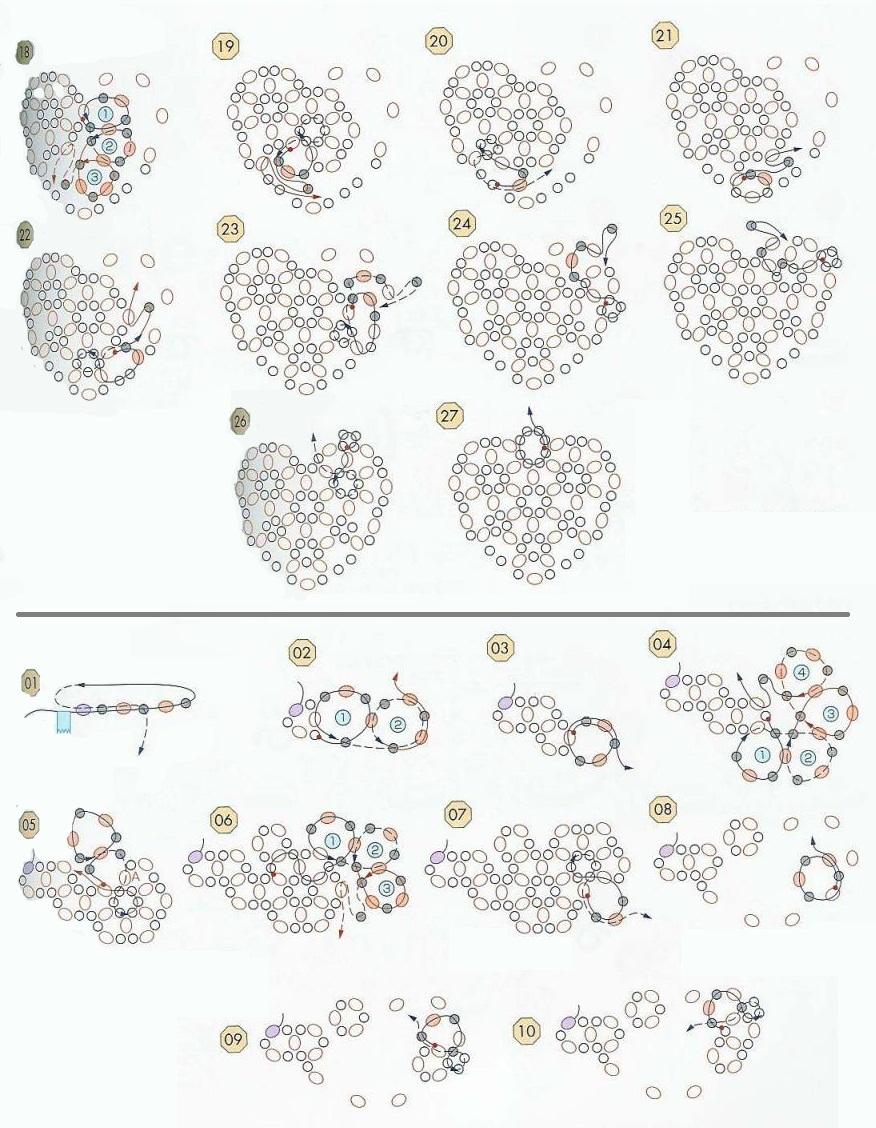 схема валентинка крючком