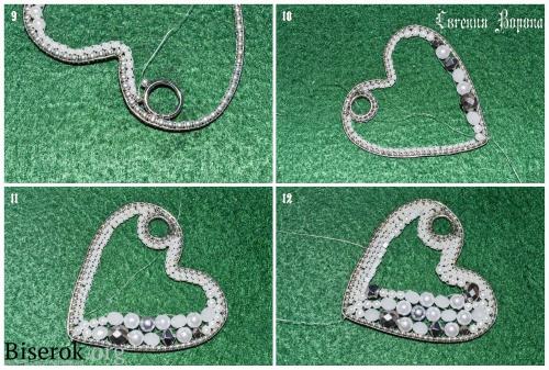 нежный крупный жемчужный брелок для ключей кирпичное плетение романтика бисер бусины