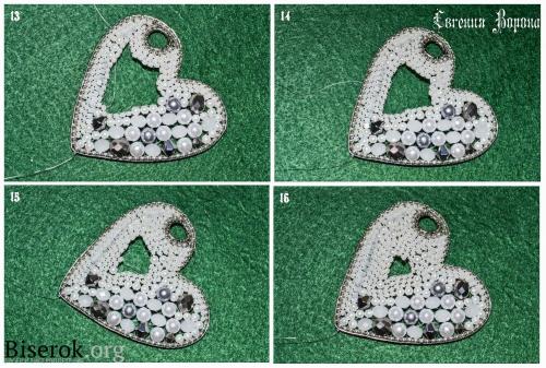 брелок из бисера и бусин в технике кирпичного плетения, мастер-класс, мк, МК , схема