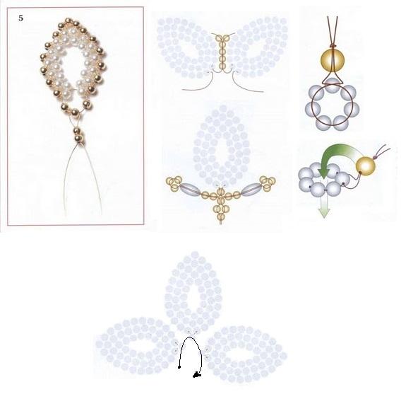 монастырское плетение, схема, цветок, брошь, заколка для свадебной прически.