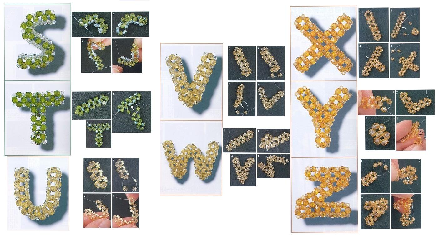 Буквы объемные из бисера схемы