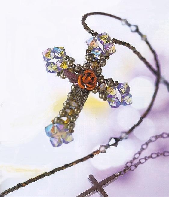 Крест из бусин своими руками
