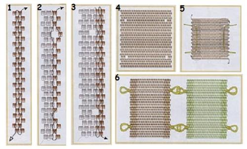 браслет, мозаичная техника, оплетение риволи схема