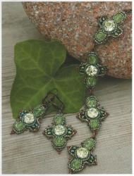 браслет серьги из бисера и бусин, красивый крест, схема
