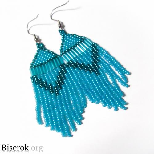 голубые серьги