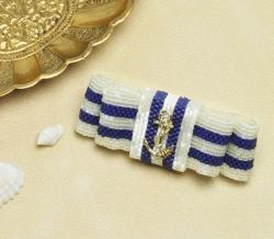 брошь брошка бант морской стиль, схема, описание к схеме, мозаичное плетение