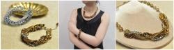 комплект из бисера и бусин, браслет и колье из бисера, простое плетение косичка
