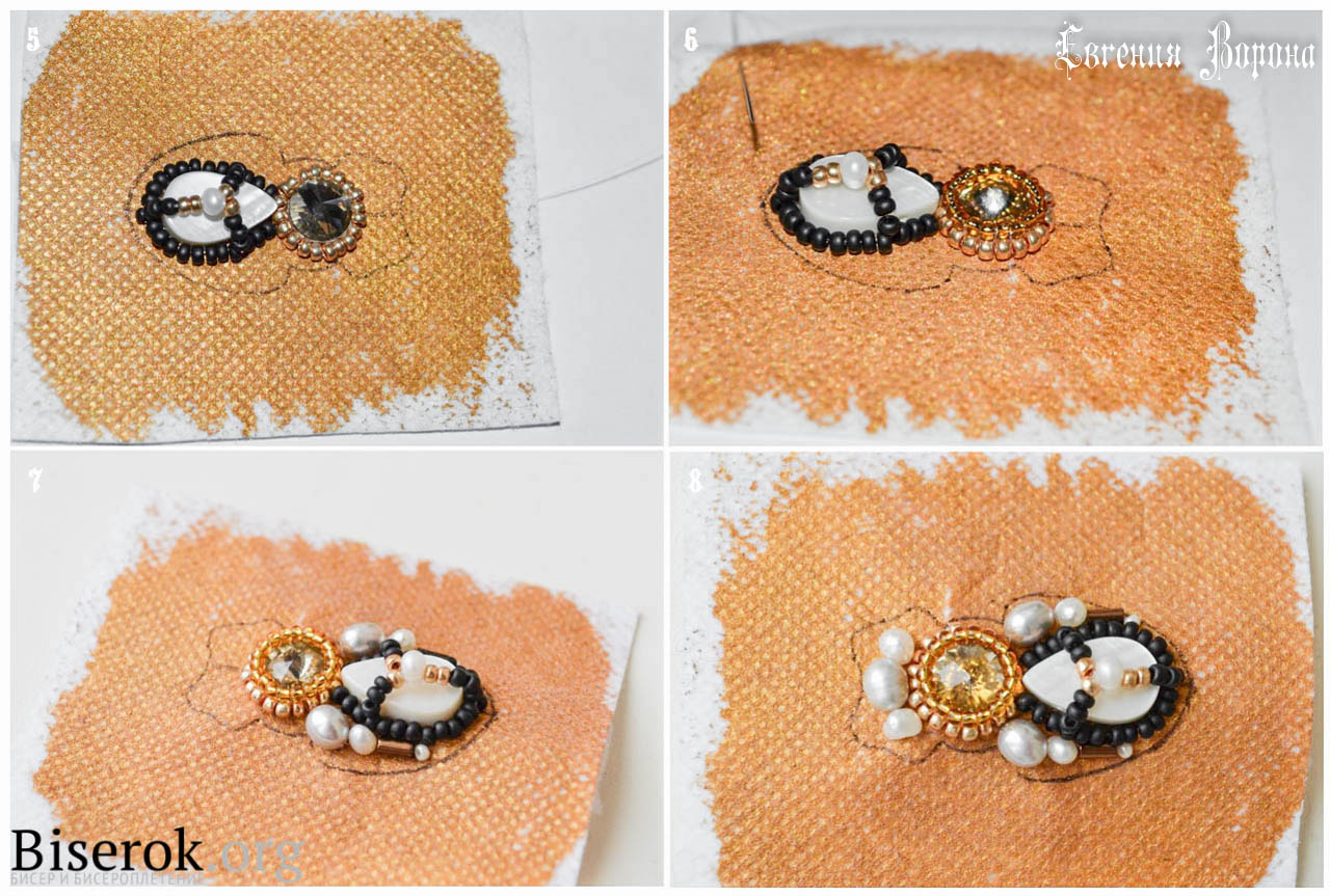 Брошки вышивка бисером мастер класс