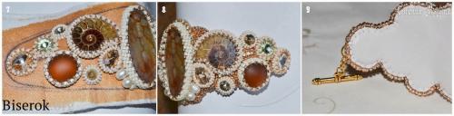 оплетение кристаллов риволи разных размеров мастер-класс, мк, МК, схема, оформление изнанки вышитых украшений натуральной кожей, обшивка края русским способом, мастер-класс, МК, мк, схема