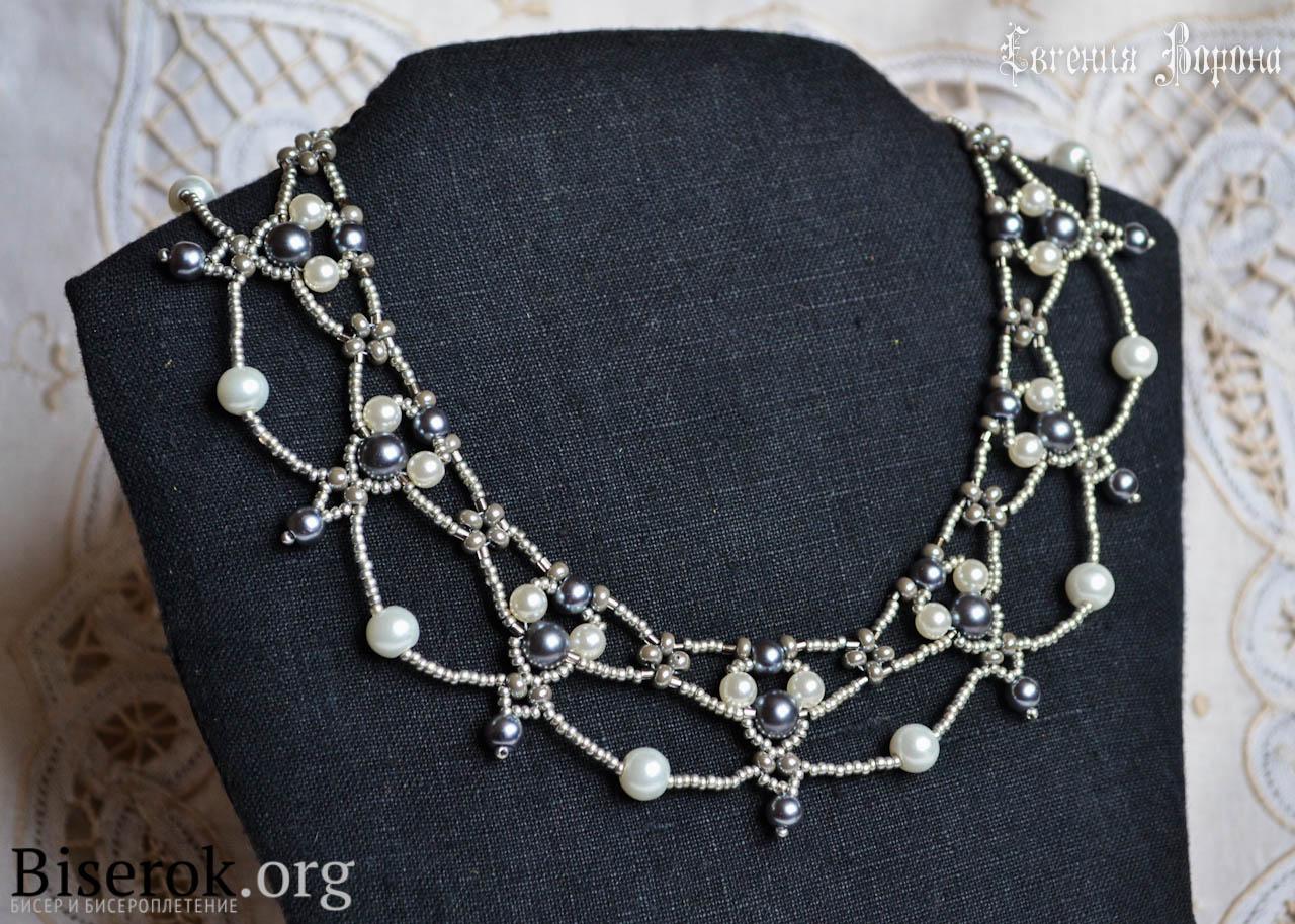 ожерелье из бисера мастер класс схема