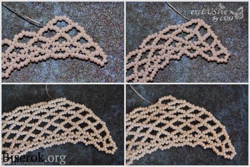 подробная схема плетения накладного воротничка, понятная пошаговая с фото