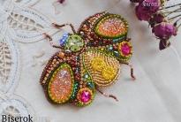 Брошь для клатча в виде жука «Spring Rainbow»