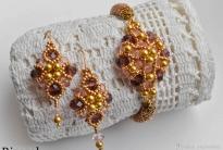 Золотистый браслет в комплект к серьгам