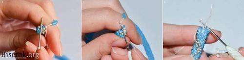 Вязание бисерного жгута полустолбиком для начинающих, как продолжить вязание после узелка