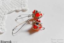 Серьги «Red flowers»