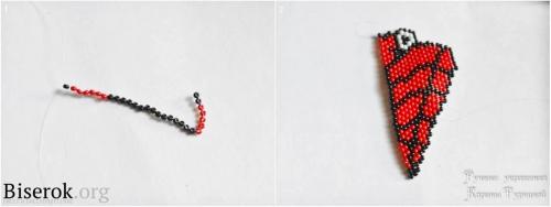 Сердце из бисера кирпичным плетением, схема граната из бисера мастер-класс, сердце грин дей