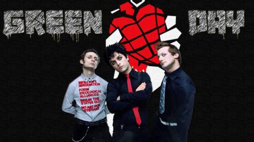 Брелок фаната группы Green Day, брелок из бисера граната-сердце