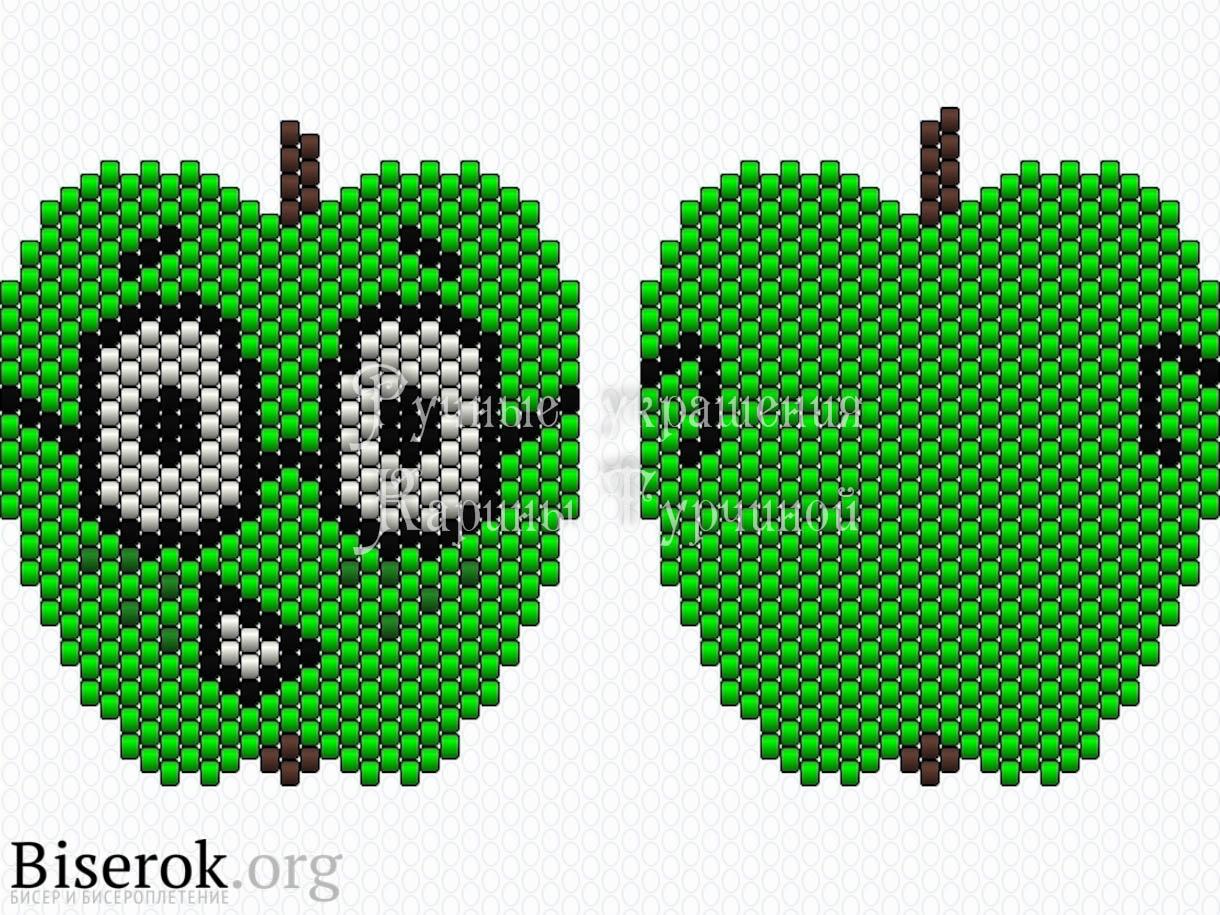Схема яблоко из бисера