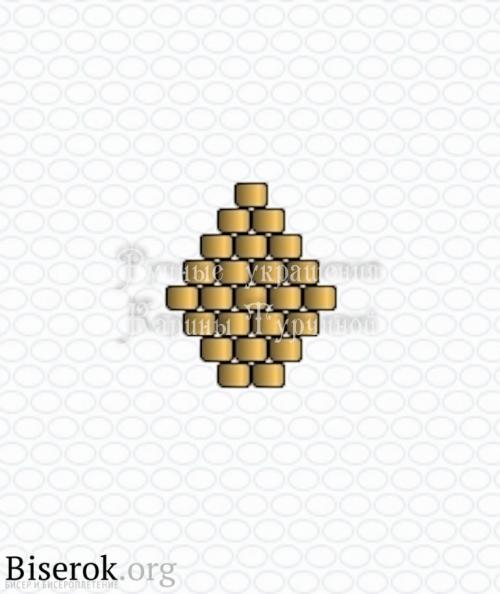 Схема лепестка кирпичиком, миниатюрный цветок из бисера схема