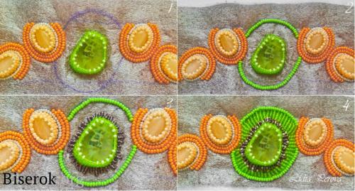 Обшиваем бусины, вышивка бисером на фетре мастер-класс