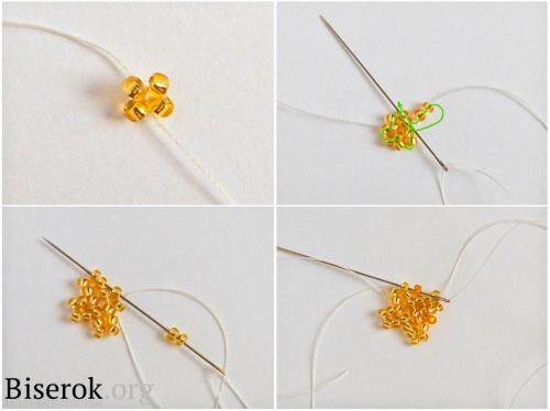 Схема плетения цветка колокольчика из бисера