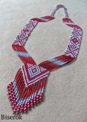 Гердан своими руками, мастер класс по плетению гердана, гердан из бисера схема