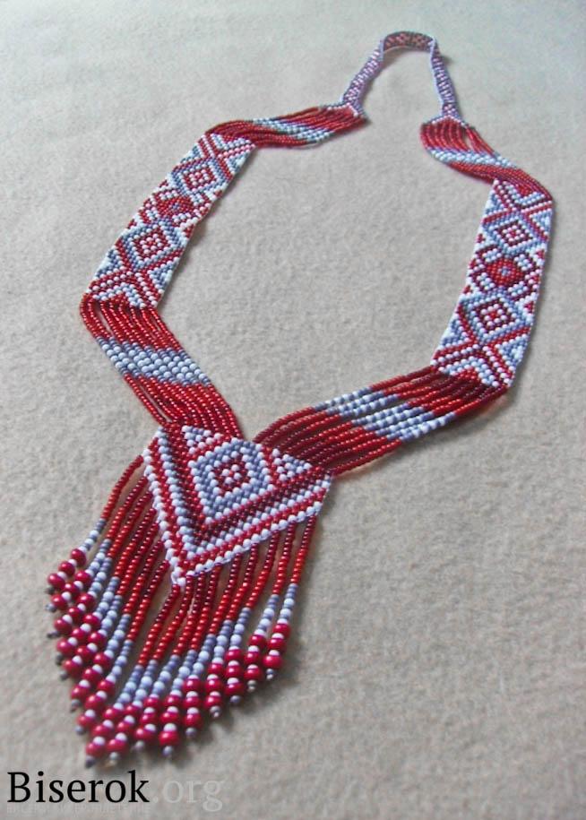 Как сделать ожерелие из бисера