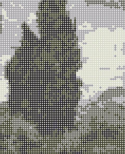 схема из шести оттенков серого