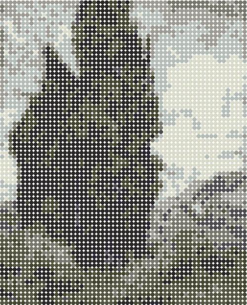 схема из девяти отттенков серого цвета