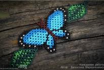 браслет с голубой бабочкой