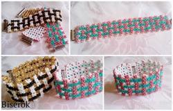 плетеный браслет коллаж