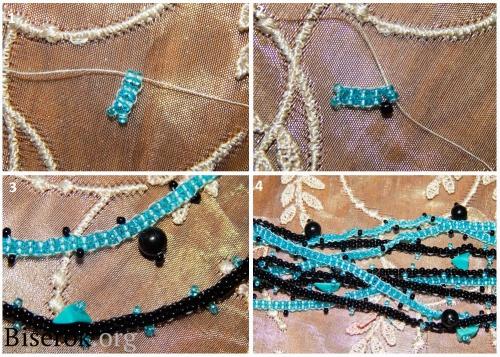 плетение цепочки 1