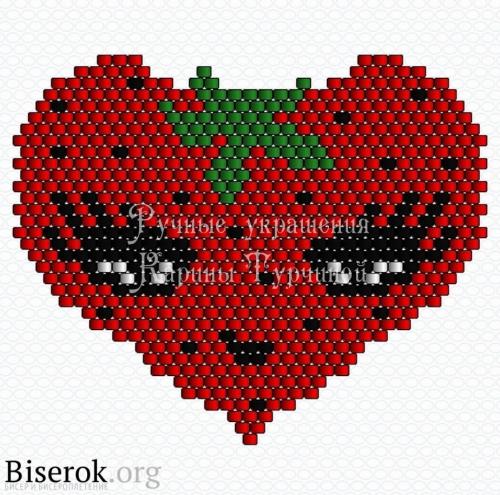 схема сердца из бисера