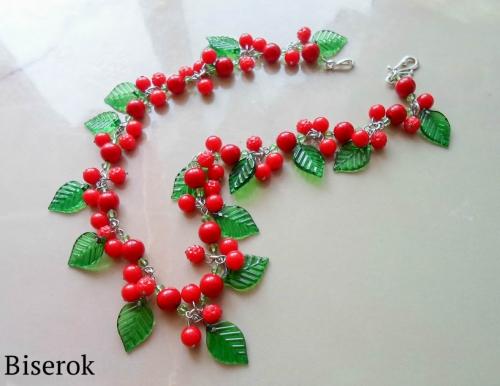 ягодные бусы