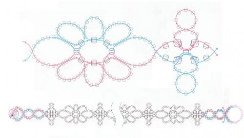 плетение колье