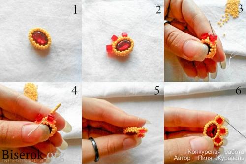 плетение серег