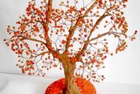 осеннее дерево из бисера