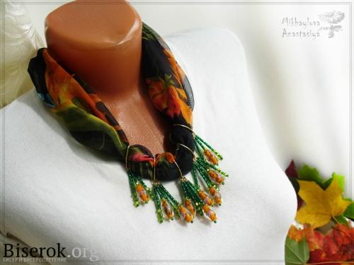 шарф шифон колье