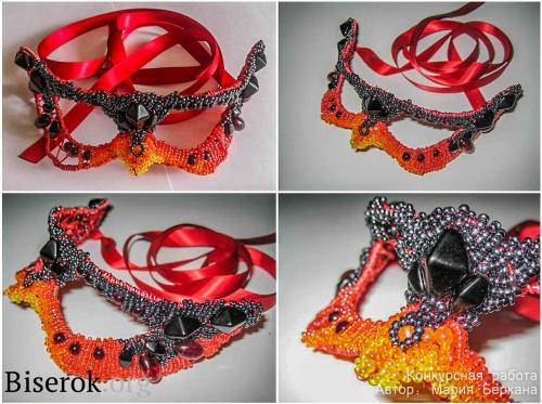 бисерная маска