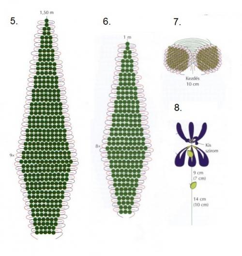 плетение зеленых листьев